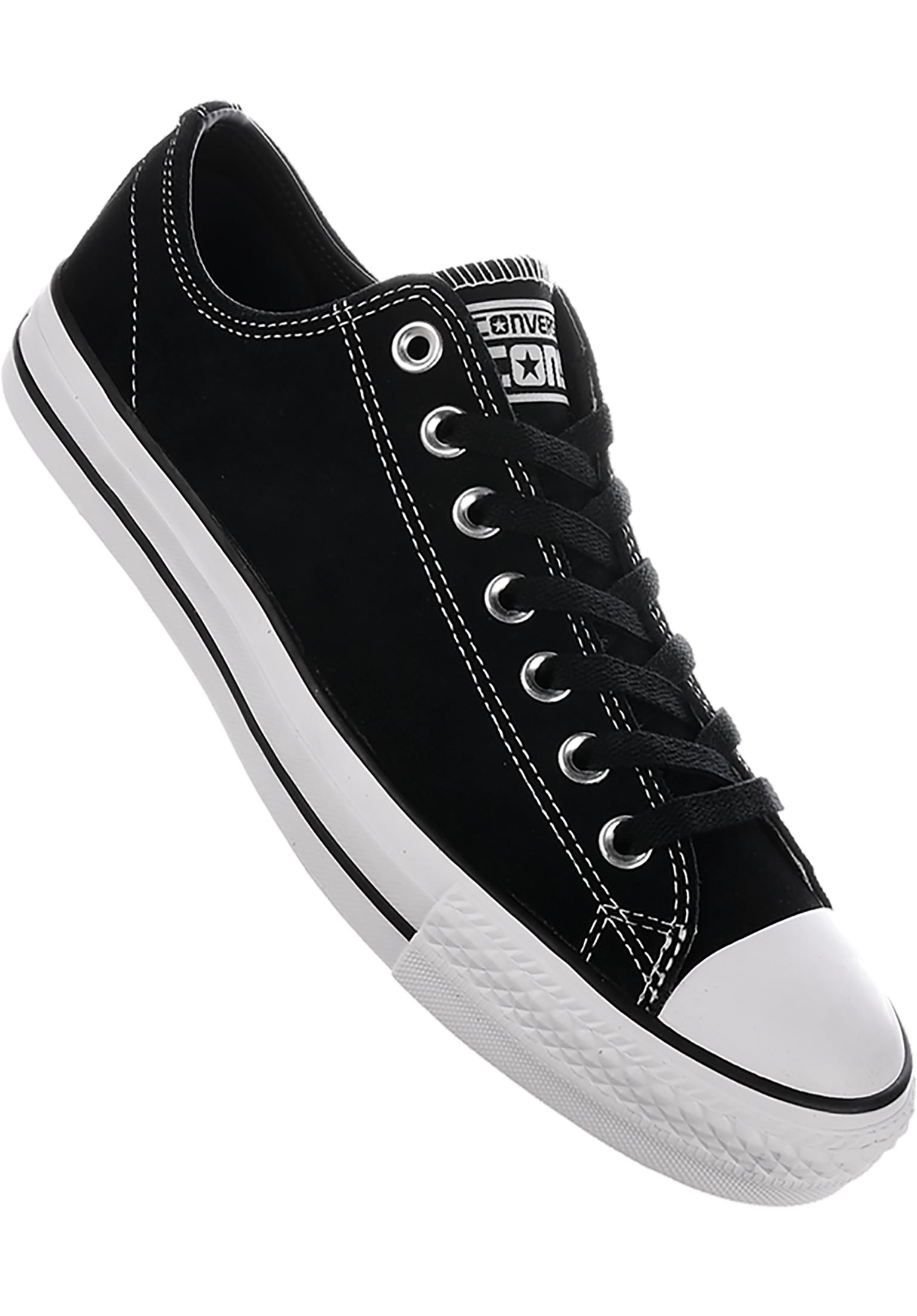 CTAS Pro Suede Ox Converse CONS All Shoes in black-black-white for Men  cd53b0c12
