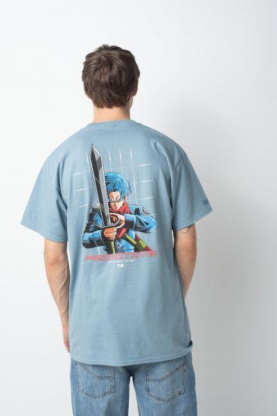 Primitive Skateboards T-Shirts x DBZ Shadow Trunk slate vorderansicht 0322233