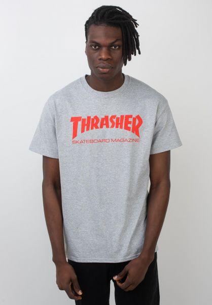 Thrasher T-Shirts Skate-Mag greymottled vorderansicht 0038081