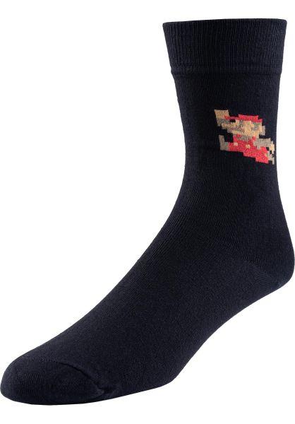 Dedicated Socken Super Mario black vorderansicht 0632100