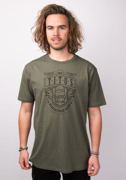 TITUS T-Shirts Wrench olive vorderansicht 0398373