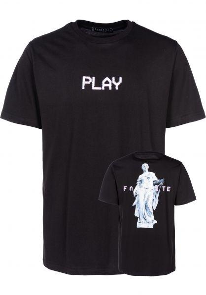 Favorite T-Shirts Play black vorderansicht 0399490