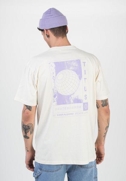 TITUS T-Shirts Planet offwhite vorderansicht 0321914