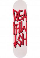 Deathwish Skateboard Decks Deathstack white-red Vorderansicht