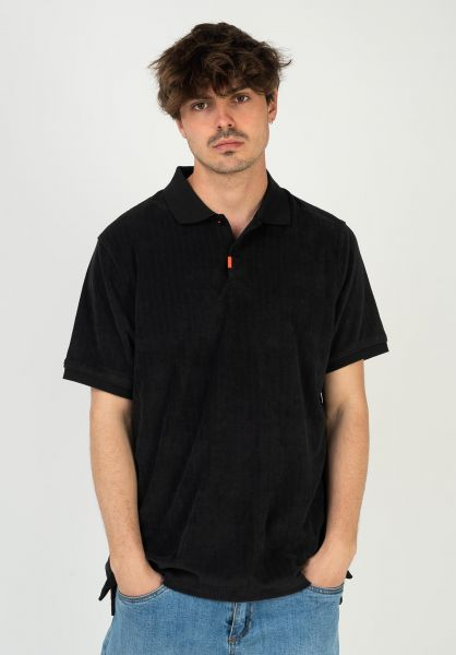 Nike SB Polo-Shirts Orange Label black-black vorderansicht 0138446