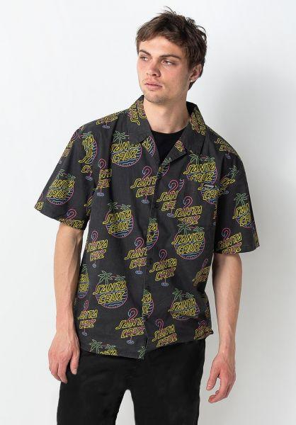 Santa-Cruz Hemden kurzarm Glow glowprint vorderansicht 0401002