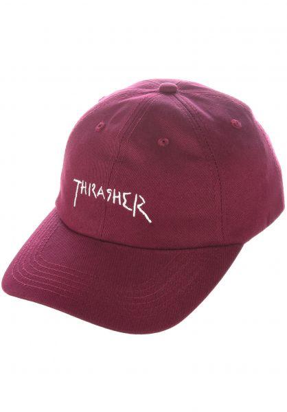 Thrasher Caps New Religion Old Timer maroon vorderansicht 0567185