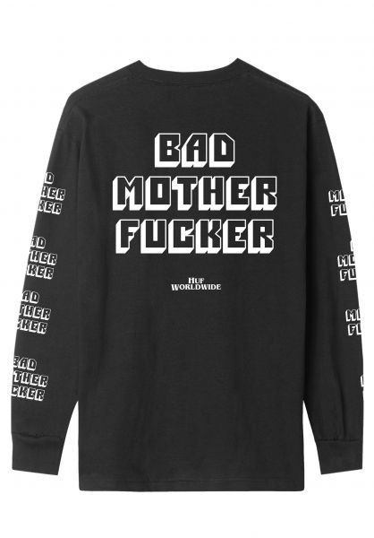 HUF Longsleeves Bad Mother Fucker black unteransicht 0383608