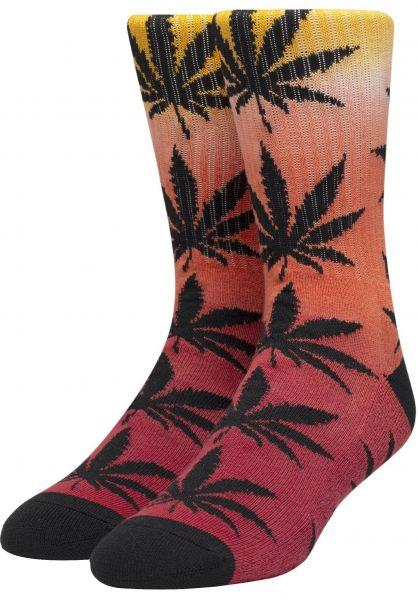HUF Socken Plantlife Gradient Dye red vorderansicht 0631760