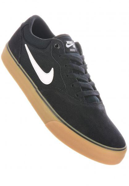 Nike SB Alle Schuhe Chron 2 black-white-black-gumlightbrown vorderansicht 0605035