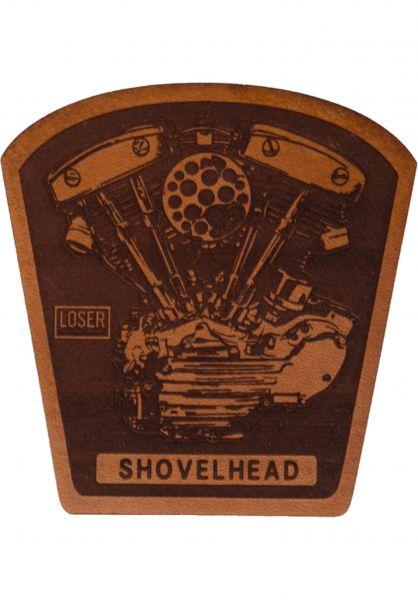 Loser-Machine Verschiedenes Shovel Leather Patch brown Vorderansicht