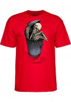 Powell-Peralta T-Shirts Garbage Skelly red Vorderansicht