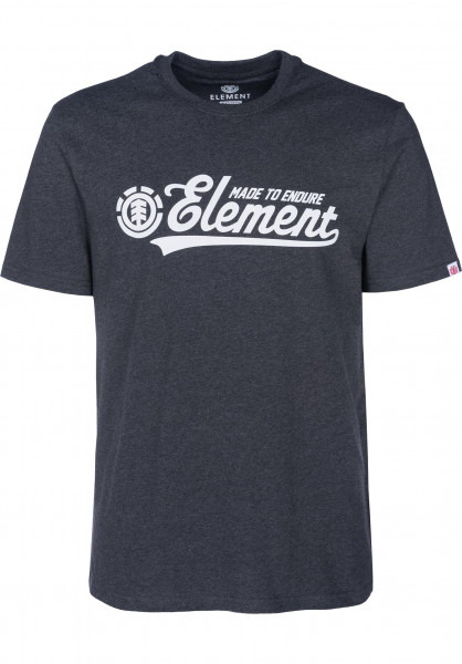 Element T-Shirts Signature charcoalheather Vorderansicht