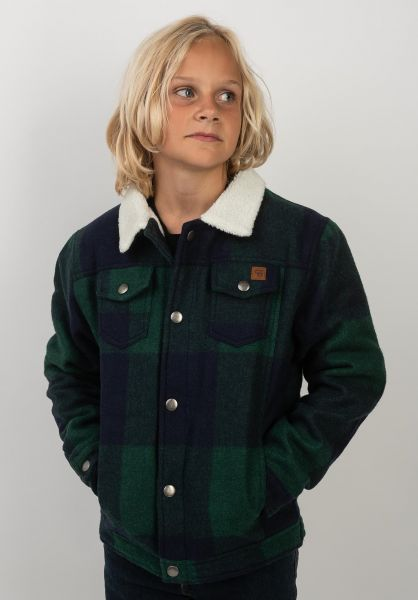TITUS Winterjacken Ben Kids green-checked vorderansicht 0250054