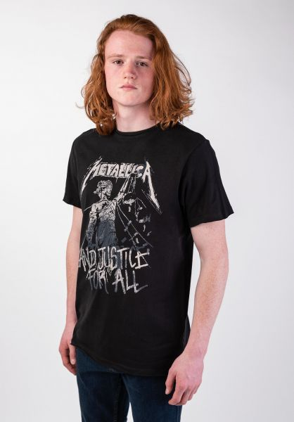 Amplified T-Shirts Metallica And Justice For All black vorderansicht 0320079