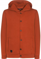 Makia-Hoodies-Button-Up-orange-Vorderansicht