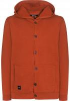 Makia-Hoodies-Button-Up-orange-Vorderansicht