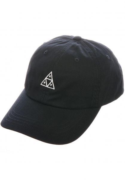 HUF Caps Triple Triangle Curved Visor Dad Hat black vorderansicht 0565483