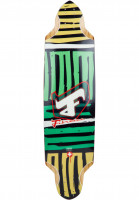 Fibretec Longboard Decks Flying Pan Classic TM green Vorderansicht