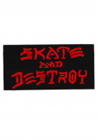 Thrasher-Verschiedenes-Skate-and-Destroy-Medium-Sticker-black-Vorderansicht