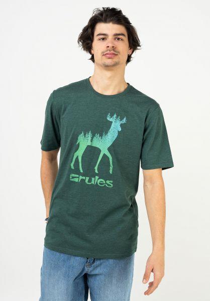 Rules T-Shirts Deer darkpetrol vorderansicht 0395794