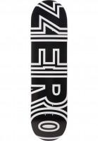 Zero-Skateboard-Decks-Bold-R7-black-white-Vorderansicht