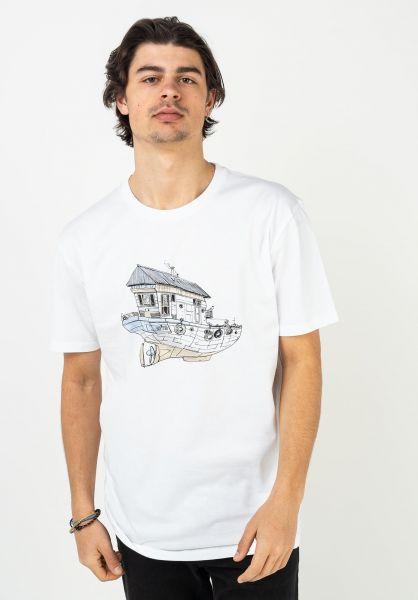 Cleptomanicx T-Shirts Dreamhome white vorderansicht 0322980