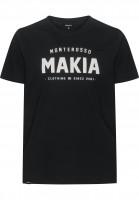 Makia-T-Shirts-Monterosso-black-Vorderansicht