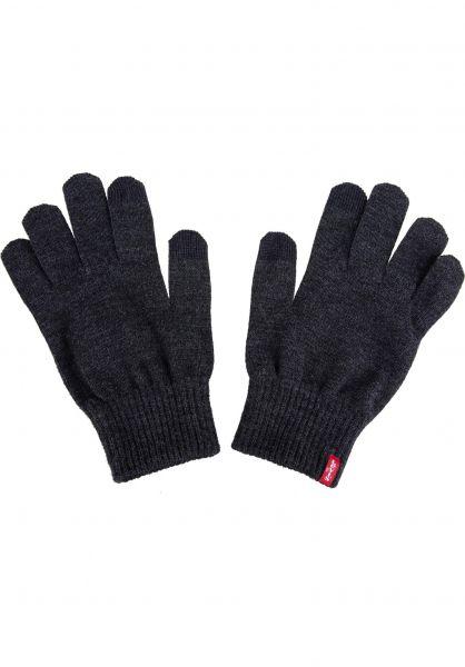 Levi's® Handschuhe Ben Touch Screen darkgrey Vorderansicht