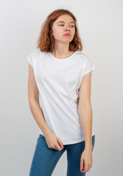 TITUS T-Shirts Essential Raglan Tee Girls white vorderansicht 0399219