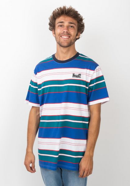 HUF T-Shirts Upland Knit insigniablue vorderansicht 0320510