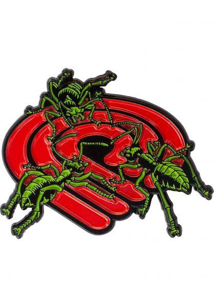 Powell-Peralta Verschiedenes Ants Lapel Pin red-green vorderansicht 0972767