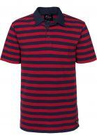 Vans Polo-Shirts Chima Triped Polo chillipepper-dressblues Vorderansicht