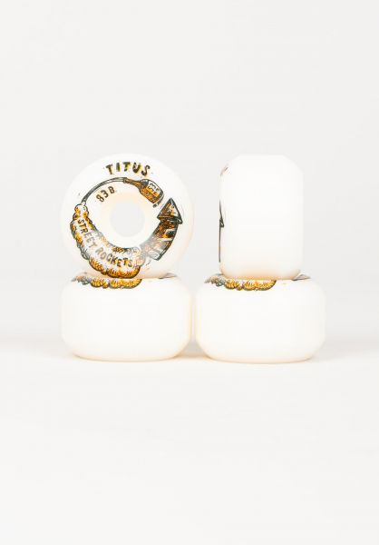 TITUS Rollen Street Rocket Conical 83B white vorderansicht 0134537