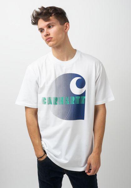 Carhartt WIP T-Shirts Illusion white vorderansicht 0321200