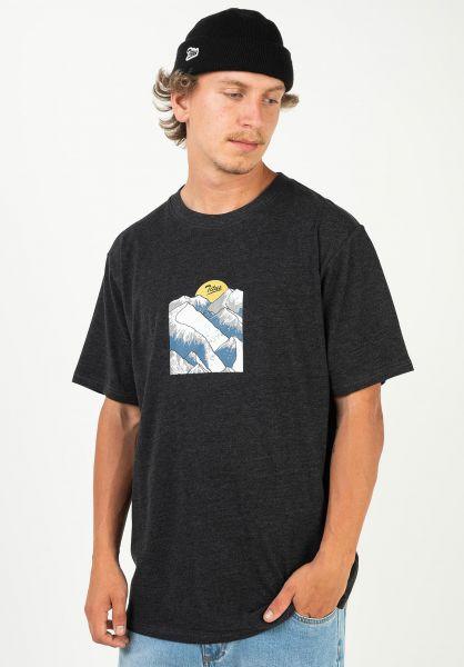 TITUS T-Shirts Genrich darkgreymottled vorderansicht 0320913