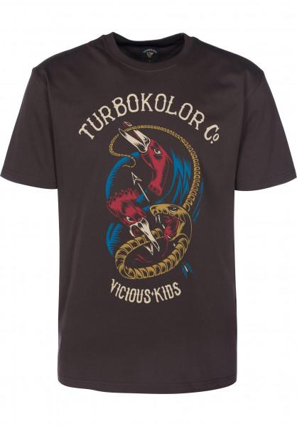 Turbokolor T-Shirts Crane brown Vorderansicht