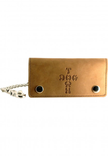 Dogtown Portemonnaie Leather Chain Wallet brown Vorderansicht