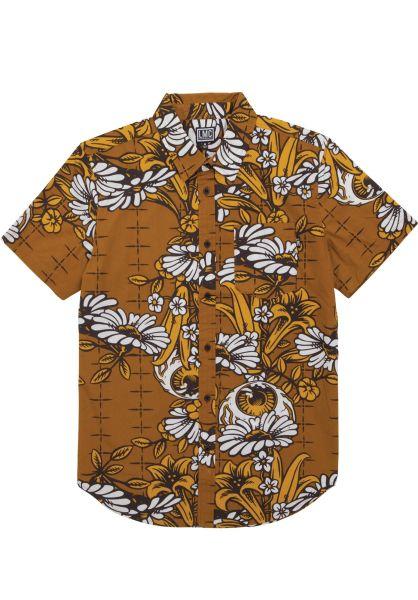 Loser-Machine Hemden kurzarm Griffin goldenbrown vorderansicht 0400849
