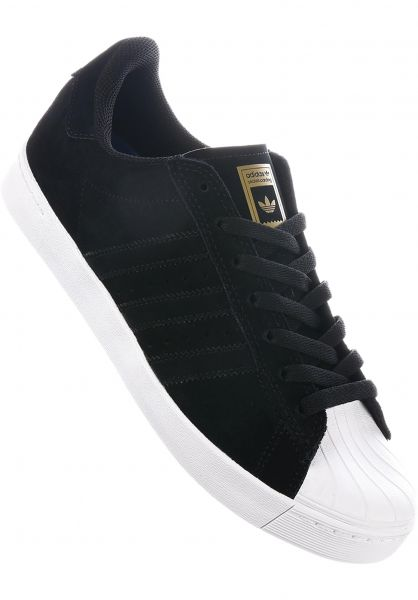new concept 3120f ee661 ... coupon code for adidas skateboarding alle schuhe superstar vulc adv  coreblack white gold vorderansicht 87388 d6581