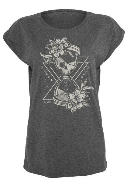 Rebel Rockers T-Shirts Hourglass Girls charcoal-heather rueckenansicht 0320750