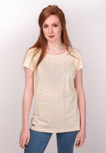 Ragwear T-Shirts Mint Dots vanilla vorderansicht 0399354