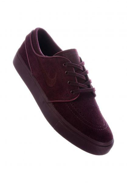 Nike SB Alle Schuhe Zoom Stefan Janoski Wmn burgundycrush-burgundycrush vorderansicht 0612360