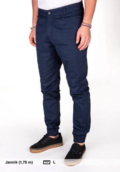 Makia Chinos und Stoffhosen Nautical Pants darknavy vorderansicht 0204113