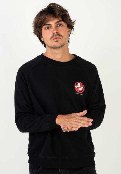 Element Sweatshirts und Pullover x Ghostbusters Ghost flintblack vorderansicht 0423010