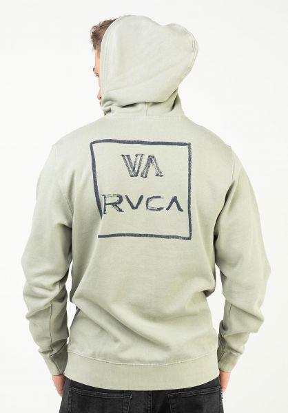 RVCA Hoodies Dry Brush icegreen vorderansicht 0446482