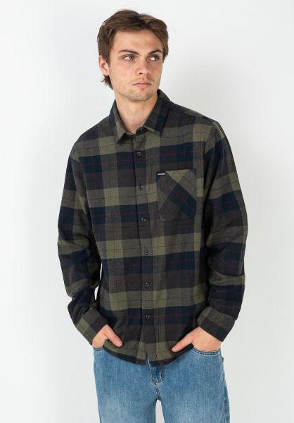 Volcom Hemden langarm Caden Plaid armygreencombo vorderansicht 0411825
