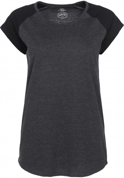 TITUS T-Shirts Lexa darkgreymottled-black Vorderansicht