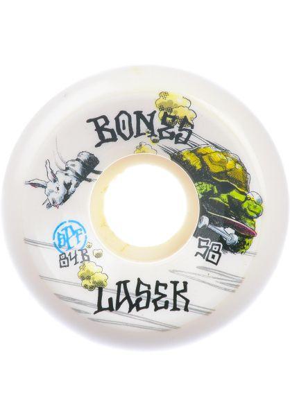 Bones Wheels Rollen SPF Lasek Tortoise & Hare 84B Sidecut white vorderansicht 0135102