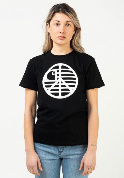 Carhartt WIP T-Shirts W' Peace State black-white vorderansicht 0322833